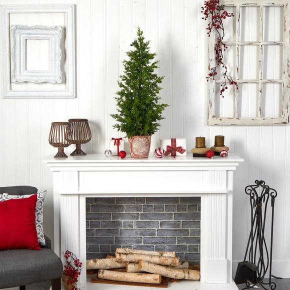 3 Cedar Natural Look Artificial Tree in Decorative Planter - SKU #T3398 - 3