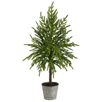 35 Christmas Artificial Tree in Decorative Planter - SKU #T3399