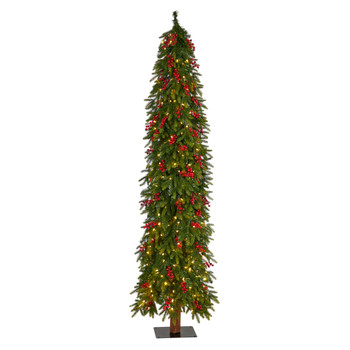 7 Victoria Fir Tree with 300 Multi-Color Multifunction LED Lights Berries and 565 Branches - SKU #T3508