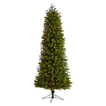 7.5 Slim Colorado Mountain Spruce Tree with 600 Multifunction Warm White Micro LED Lights - SKU #T3512