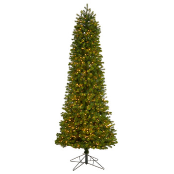 8.5 Slim Colorado Mountain Spruce Tree with 900 Multifunction Warm White Micro LED Lights - SKU #T3513