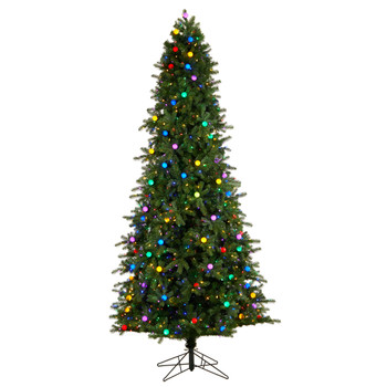 9.5 Montana Mountain Fir Tree with 1150 Multi Color LED Lights and Instant Connect Technology - SKU #T3520