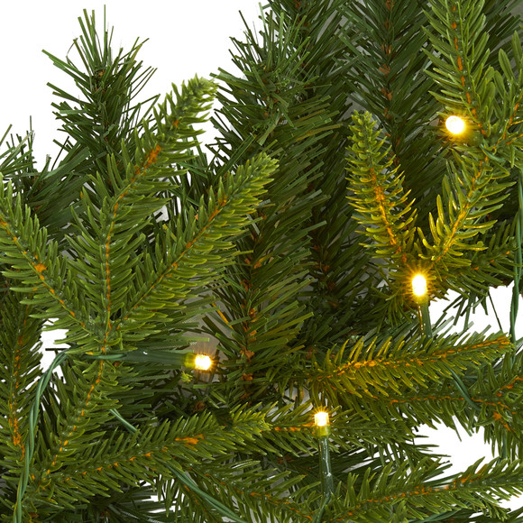 6 Green Pine Artificial Christmas Garland with 35 Clear LED Lights - SKU #W1109 - 2