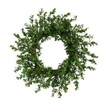 20 Boxwood Artificial Wreath - SKU #W1124