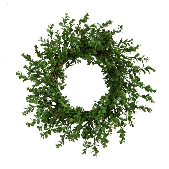 20 Boxwood Artificial Wreath - SKU #W1124