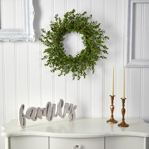 20 Boxwood Artificial Wreath - SKU #W1124 - 2