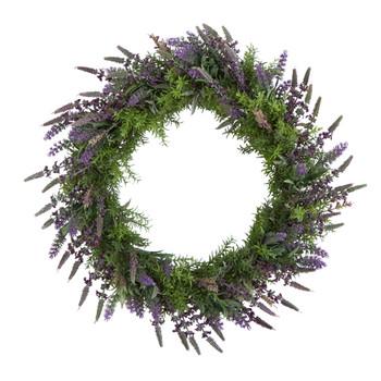 24 Lavender Artificial Wreath - SKU #W1139
