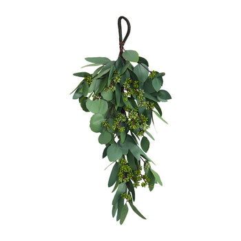 22 Eucalyptus and Berry Artificial Teardrop - SKU #W1141