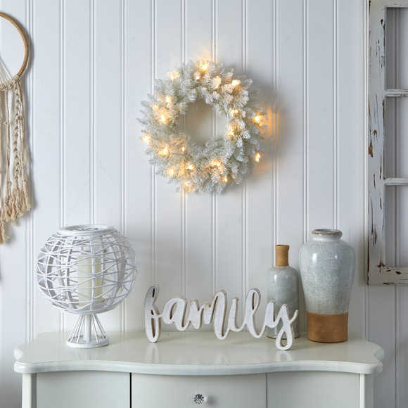 18 Colorado Spruce Artificial Christmas Wreath with 129 Bendable Branches and 20 Warm LED Lights - SKU #W1173 - 3