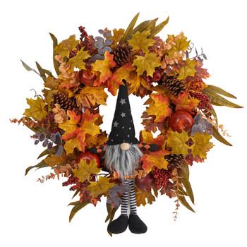 28 Harvest Fall Gmone Artificial Autumn Wreath - SKU #W1190