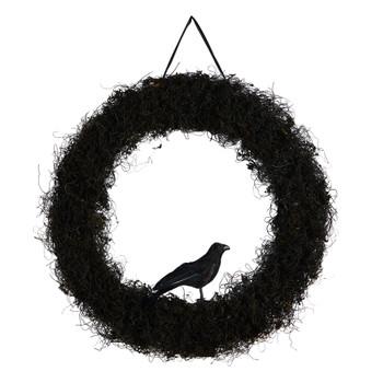 30 Halloween Black Raven Twig Wreath - SKU #W1195