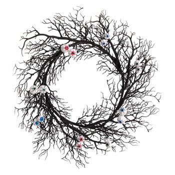 30 Halloween Gazing Eyeballs Twig Wreath - SKU #W1200