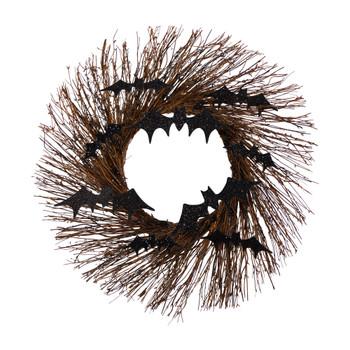 26 Halloween Bats Twig Wreath - SKU #W1202