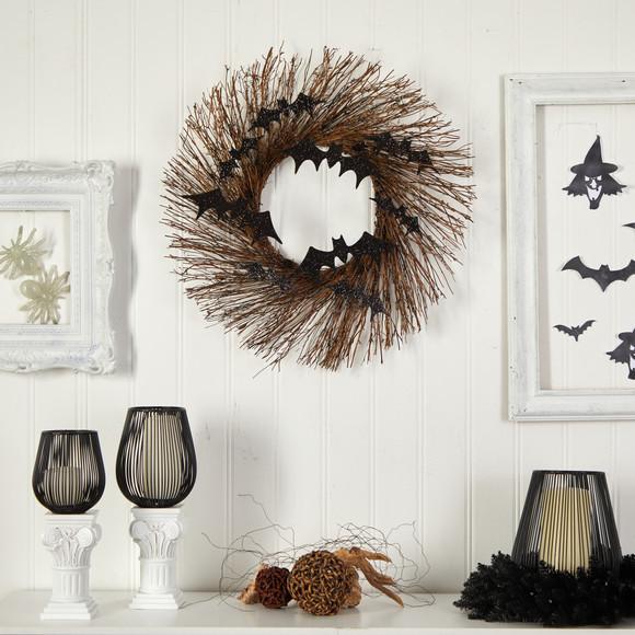 26 Halloween Bats Twig Wreath - SKU #W1202 - 2