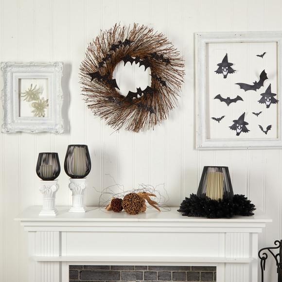 26 Halloween Bats Twig Wreath - SKU #W1202 - 3