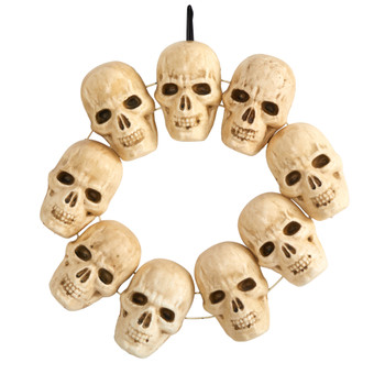 20 Halloween Skull Wreath with Lighted Eyes - SKU #W1203