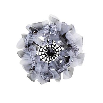 26 Halloween Spider Web Mesh Wreath - SKU #W1205