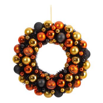 30 Halloween Shatterproof Jack Olantern Pumpkin Ornament Wreath - SKU #W1209