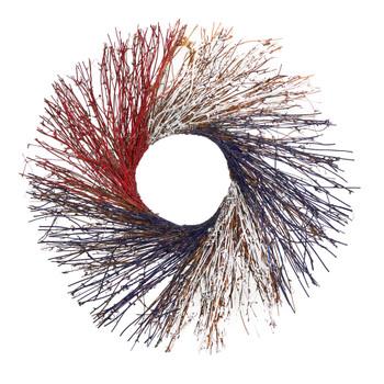 24 Americana Twig Wreath Red White and Blue - SKU #W1214