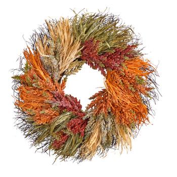 26 Fall Sorghum Harvest Autumn Artificial Wreath - SKU #W1224
