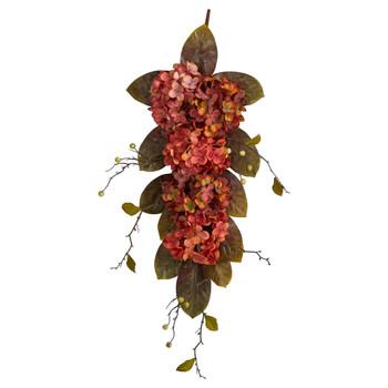 35 Autumn Hydrangea and Berry Artificial Fall Tear Drop - SKU #W1228