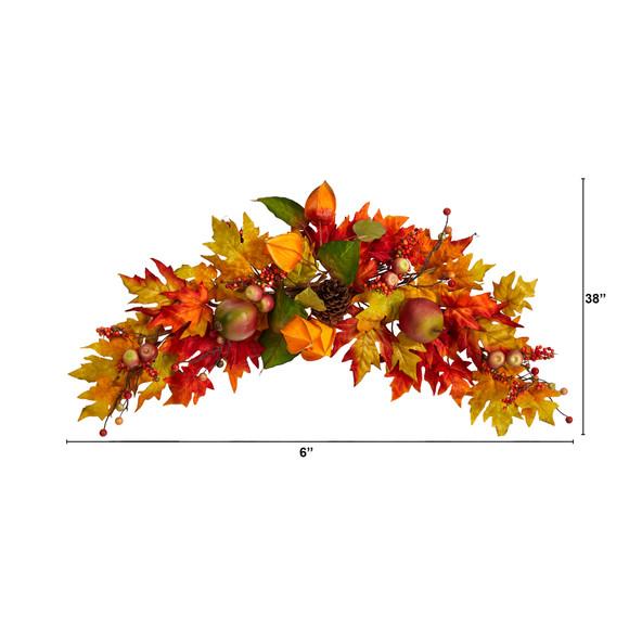 38 Autumn Maple Leaf Berry Artificial Swag - SKU #W1233 - 1