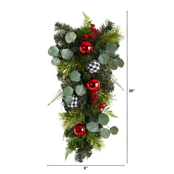 26 Holiday Christmas Greenery Ornament Artificial Swag - SKU #W1265 - 1