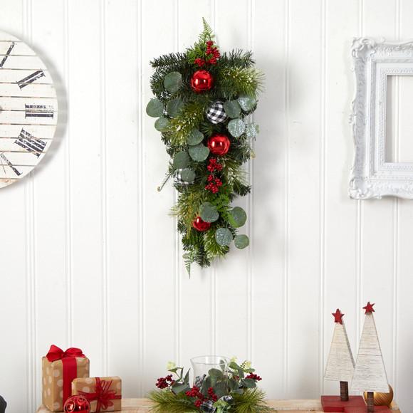 26 Holiday Christmas Greenery Ornament Artificial Swag - SKU #W1265 - 2