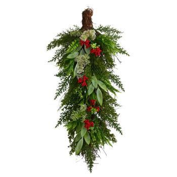 30 Cedar and Berry Artificial Christmas Swag - SKU #W1274