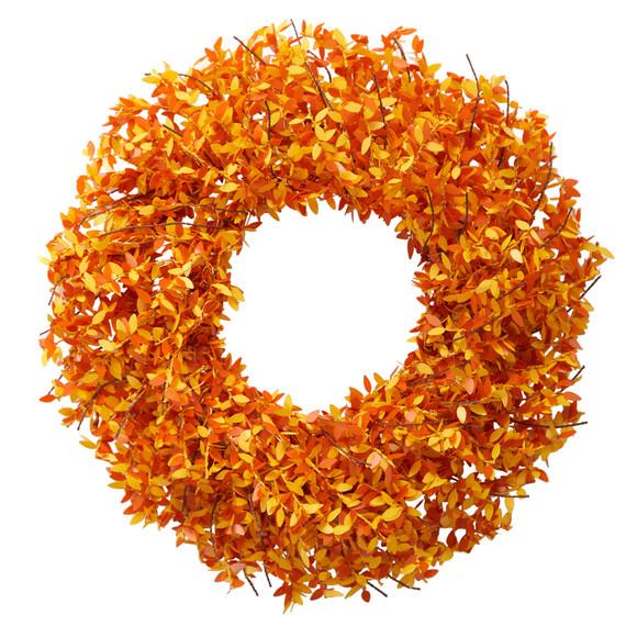 24 Harvest Fall Pre-Lit Wreath with 100 Micro Dot LED lightss - SKU #W1297 - 2