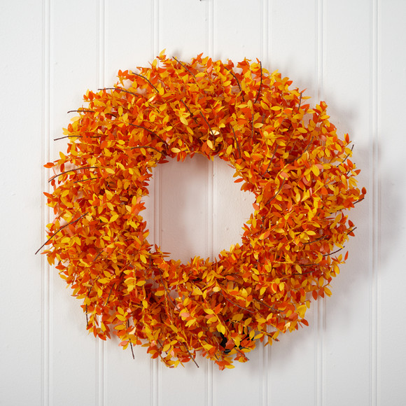 24 Harvest Fall Pre-Lit Wreath with 100 Micro Dot LED lightss - SKU #W1297 - 3
