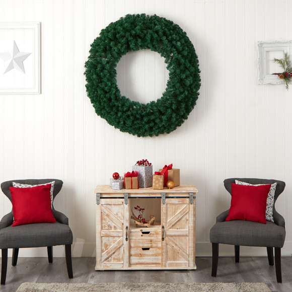 48 Large Artificial Christmas Wreath with 714 Bendable Branches and 200 Warm White LED Lights - SKU #W1308 - 6