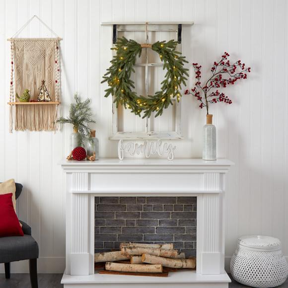 24 Holiday Christmas Pre-Lit Cascading Pine Wreath - SKU #W1317 - 5