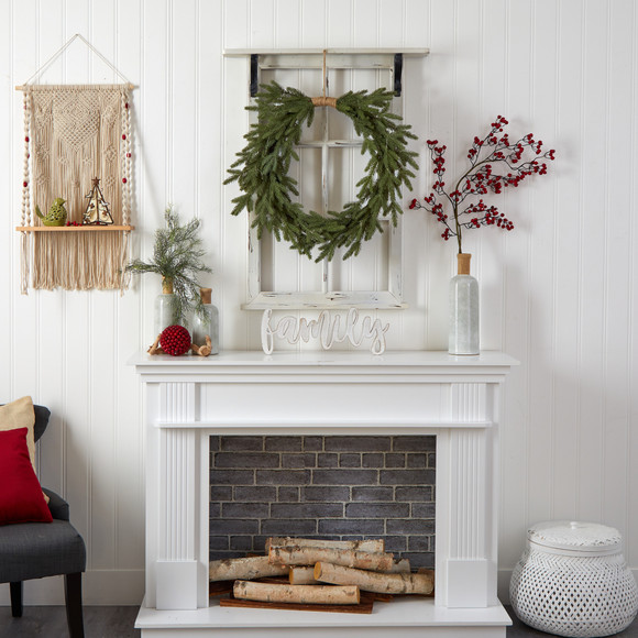 24 Holiday Christmas Pre-Lit Cascading Pine Wreath - SKU #W1317 - 6